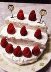 いちごで可愛いひな壇ケーキ♡