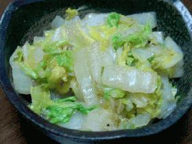 Simple is best!の白菜