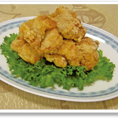 ごまドレ漬けの鶏のから揚げ