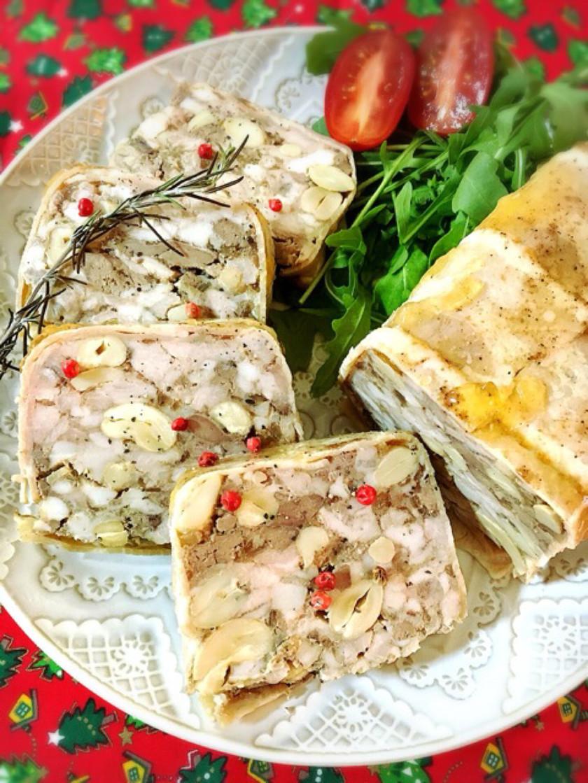 レバーと豚肉のパテドカンパーニュ。