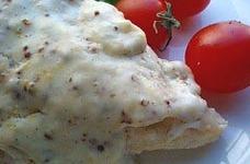 チキンのマスタードクリームソース
