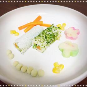 節分 恵方巻き ☆離乳食 巻き寿司