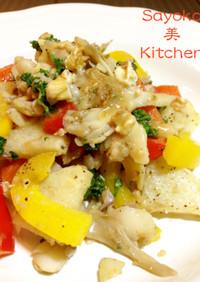 鱈と長芋のクリーミィ味噌炒め