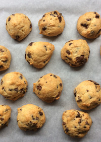 簡単かわいい♡チョコチップクッキー
