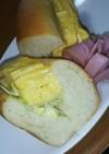 手捏ねコッペパンで厚焼き玉子サンド
