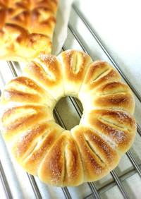 HBで簡単♪シュガーバターパン♪