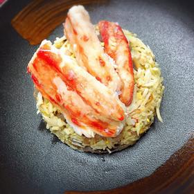 糖質制限 贅沢カニチャーハン(糖質0麺)