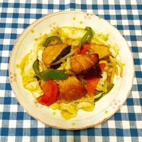 ぶりと野菜の炒め物~♪