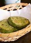もち粉で作る【よもぎ梅ヶ枝餅風 焼き餅】