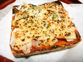 酒粕チーズのベジタリアンピザトースト