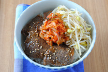 焼き肉とナムルのプチ丼