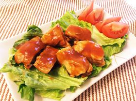 チョ〜簡単!鶏肉のケチャップ&ソース煮☆