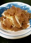 凍りこんにゃくと玉葱の煮物、牛丼風!?