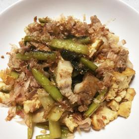 御飯がすすむ☆豚バラと野沢菜の炒め物