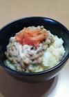 早うま朝食!納豆たまごかけごはん♪