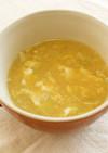 キャベツとコーンのとろみ卵スープ