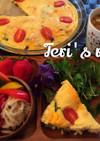 低糖質ダイエット★野菜と茸の豆腐キッシュ