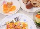 厚切ベーコンとチーズのスクランブルエッグ