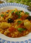 ポルトガル風♪アンコウのトマト味リゾット