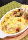コーンスープの素で簡単パングラタンランチ
