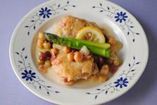 鶏と豆のレモン煮込み