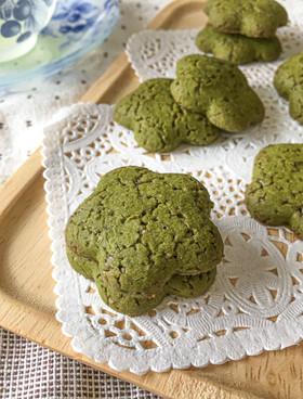 シンプル*サラダ油と米粉のお抹茶クッキー