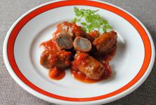 牛肉とごぼうのトマト煮込み