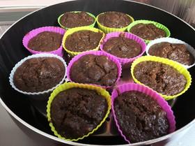 甘酒入りガトーショコラ風蒸しカップケーキ