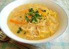 ひき肉と卵スープのうどん(ローミー)