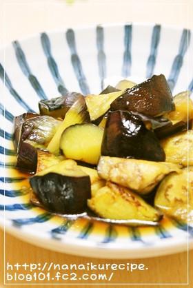 ジューシー揚げナスの麺つゆ浸し