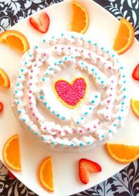 乳アレルギー対応☆苺デコレーションケーキ