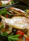 フライパンで簡単に♪鯛のアクアパッツァ