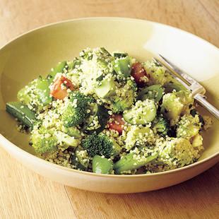 クスクスとグリーン野菜のサラダ
