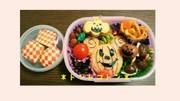 ♬ミッキーのハロウィン弁当♬キャラ弁の写真