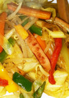 魚肉ソーセージカレー炒め