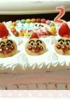 ♡2歳のアンパンマンバースデーケーキ♡