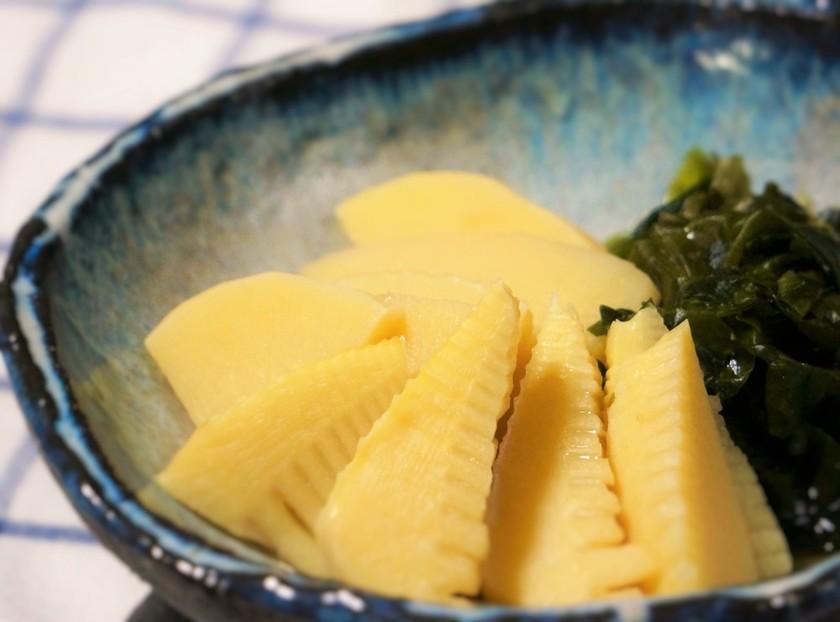 鶏味塩 de 若竹煮(竹の子とわかめ)