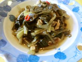 ♪豚肉と野沢菜の炒め煮 本当に美味し~い
