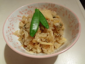 あさりと筍のシンプル炊き込みご飯