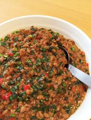 【作り置き】簡単美味しい基本の彩り肉味噌の写真