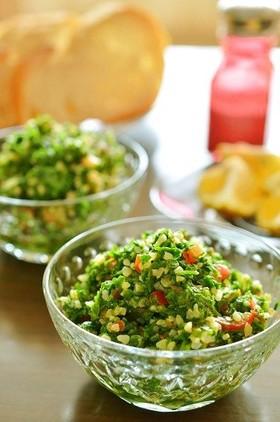 トルコ料理☆ブルグルとパセリの緑サラダ