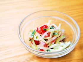 もやし・きゅうり・トマトの3色簡単サラダ