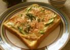 簡単☆筍とアスパラの和風トースト