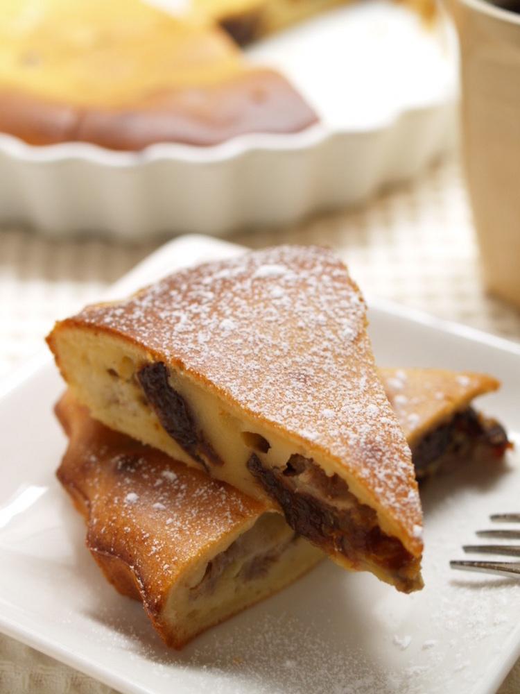 プルーンとバナナのヨーグルトケーキ