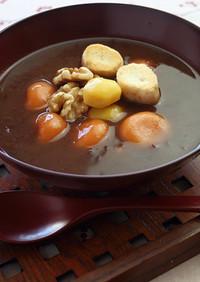 トマト白玉と栗のお汁粉【天狗缶詰】
