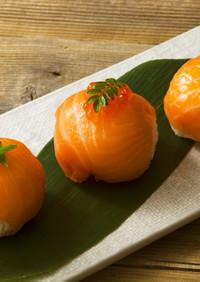 スモークサーモンの簡単手まり寿司