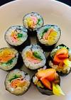 ★身近な材料で簡単美味しい海苔巻き김밥。