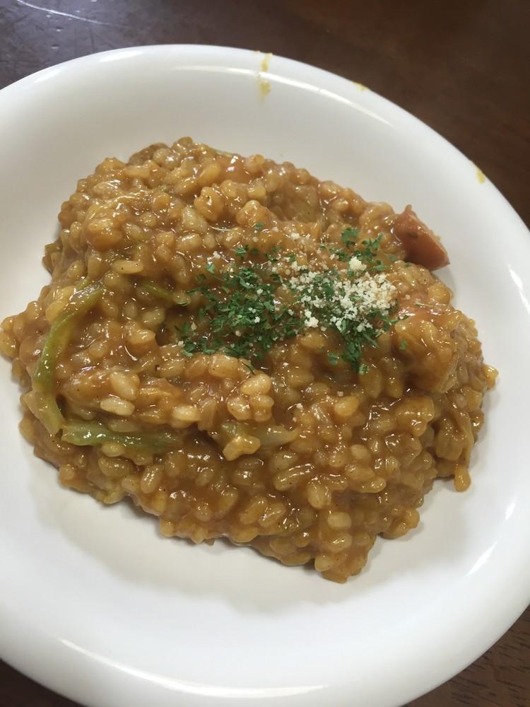 生米から簡単カレーリゾット
