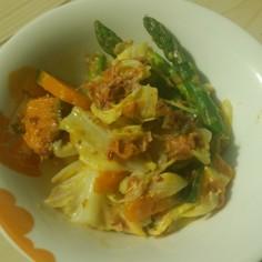 温野菜をまるごと頂けるごま味噌ドレ