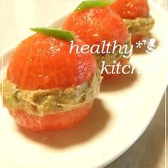 簡単ヘルシー★トマトのアボツナサンド